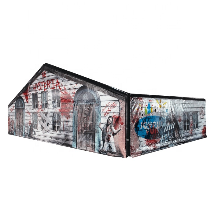 Exciting airtight halloween horror inflatable maze house for sale
