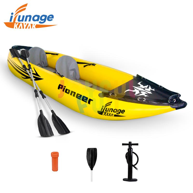 Joyful Fun factory 2 person sit on top tandem kayak sea kayak double canoe inflatable cheap kayaks
