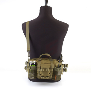Tactical Waist Pack Bag with 2-Water Bottle Pocket Holder for Hunting Running