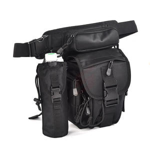 Tactical Drop Leg Bag Waist Bag Outdoor Thigh Pack with Water Bottle Pouch for Men