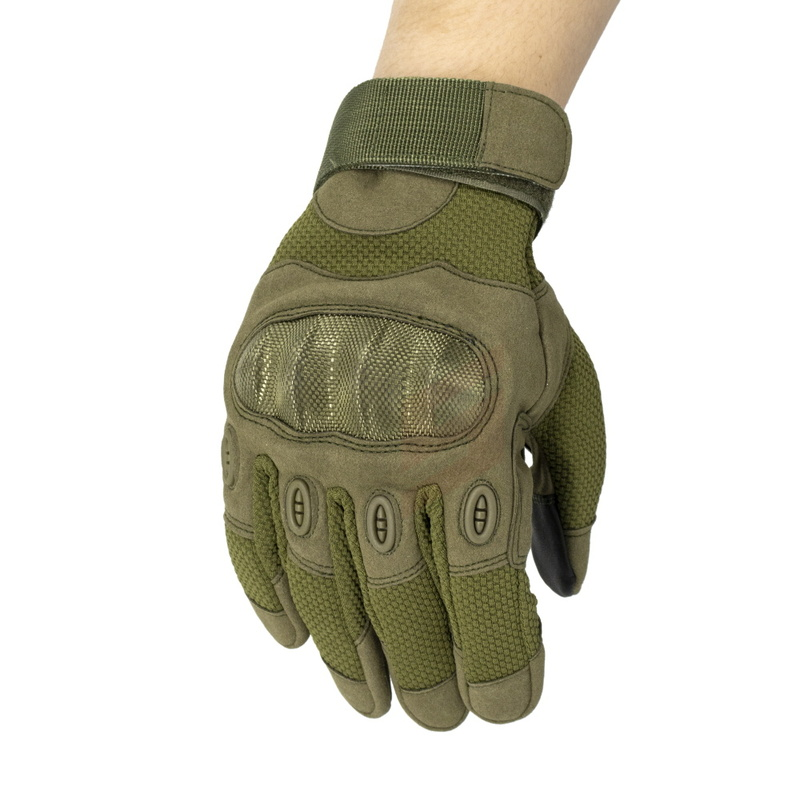 HS Tactical Army Carbon Shell Gloves with Finger Touch Function
