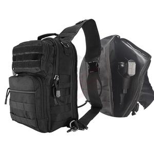 Tactical sling bag hidden holster shoulder bag