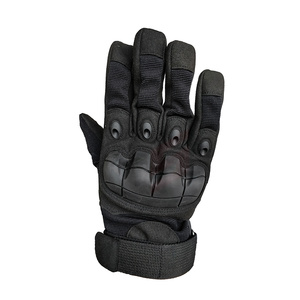 New Tactical Full Finger Glove Military Rubber Protective Shell Gloves