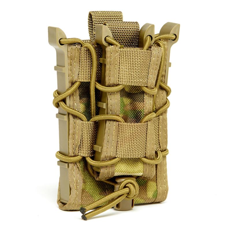 Ak 1000D Nylon Personalizado Universal Pistola Airsoft Ejército Tactical Magazine Drop Carrier Pouch Militar Tactical Double Holster