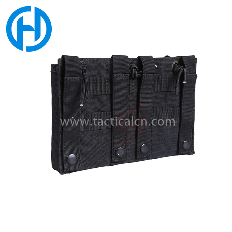 Caza militar Airsoft M4 y pistola Mag Pouch Tactical Molle Triple Magazine Pouches