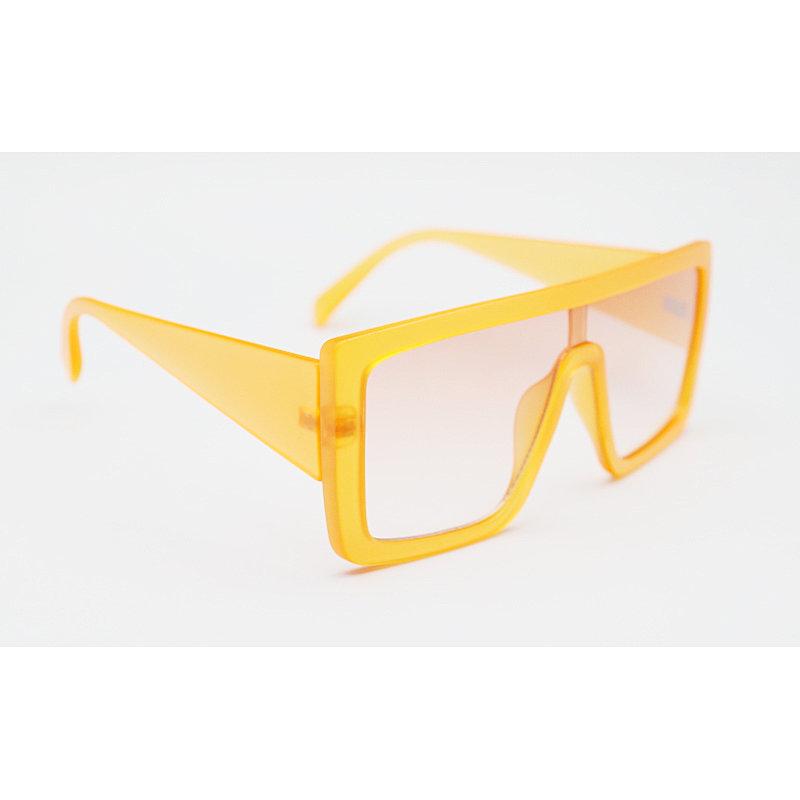 DTJX8038 Flat top oversize shield square shape fashion sunglasses