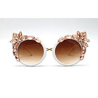 DTMY1006 Cateye metal flower/floral decor rhinestone fashion sunglasses