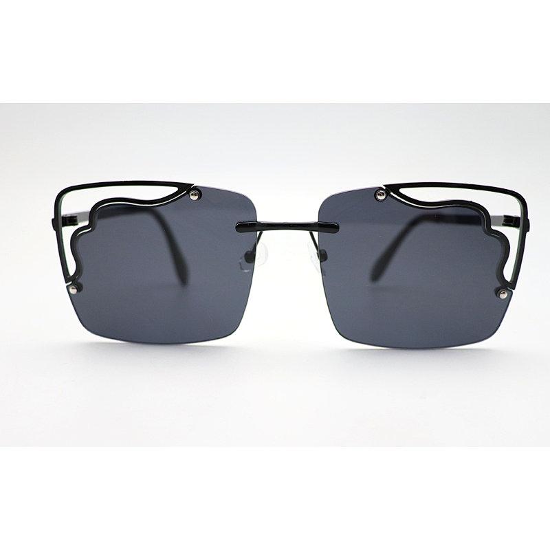DTFJ2906 Retro Square Shape Hollow Sunglasses