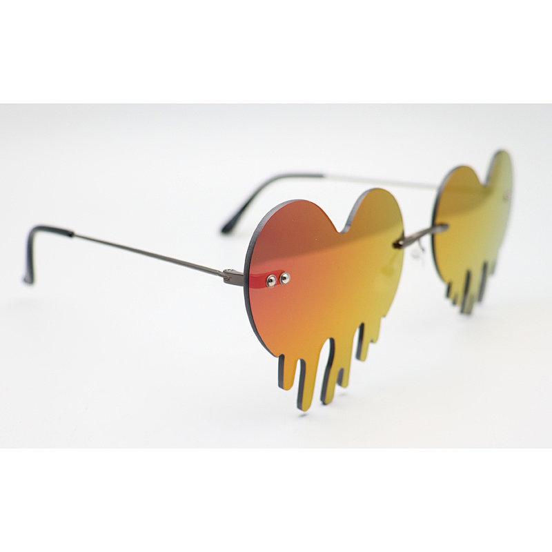 DTFJ2453 Rimless Teardrop Cloud Pendant Sunglasses