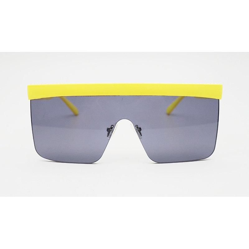 DTHSH106 Flat top oversize shield square shape sunglasses