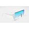 DTL6483 Flat top oversize square shape shield fashion sunglasses