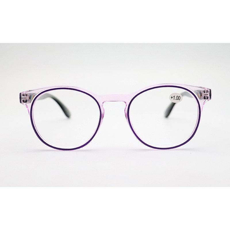 DTYH1140  Round Plastic Transparent Reading Glasses