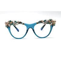 DTMY1010 Cateye metal flower/floral decor rhinestone fashion sunglasses