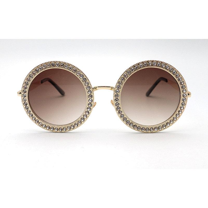 DTMY1001 Round shape rhinestone fashion sunglasses