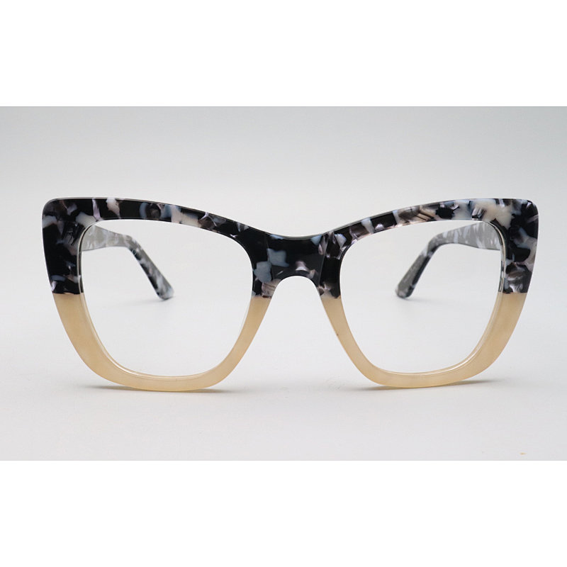 DTYN040 Cateye lamination fashion acetate optical frame glasses