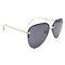 DTBG679 Oversized aviator double bridge sunglasses