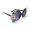 DTMY1003 Round shape metal flower/floral decor rhinestone fashion sunglasses