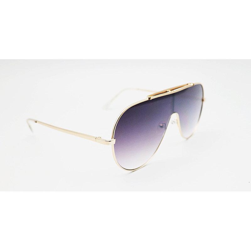 DTJH124 Flat top oversize shield round shape sunglasses
