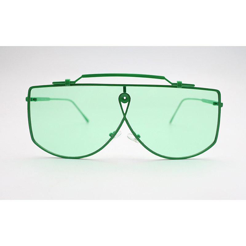 DTFJ2595 Flat top oversize shield fashion sunglasses