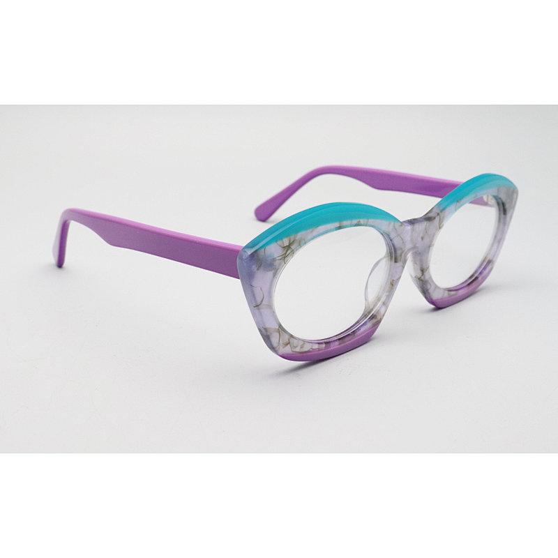 DTYN046 Oval GEO lamination fashion acetate optical frame glasses
