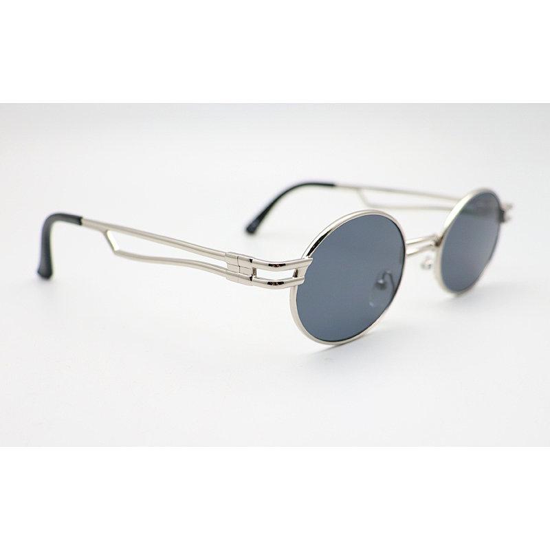 DTFJ2281 Silver Round Sunglasses