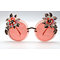 DTZ17107 Round shape metal flower/floral decor enamel/rhinestone fashion sunglasses