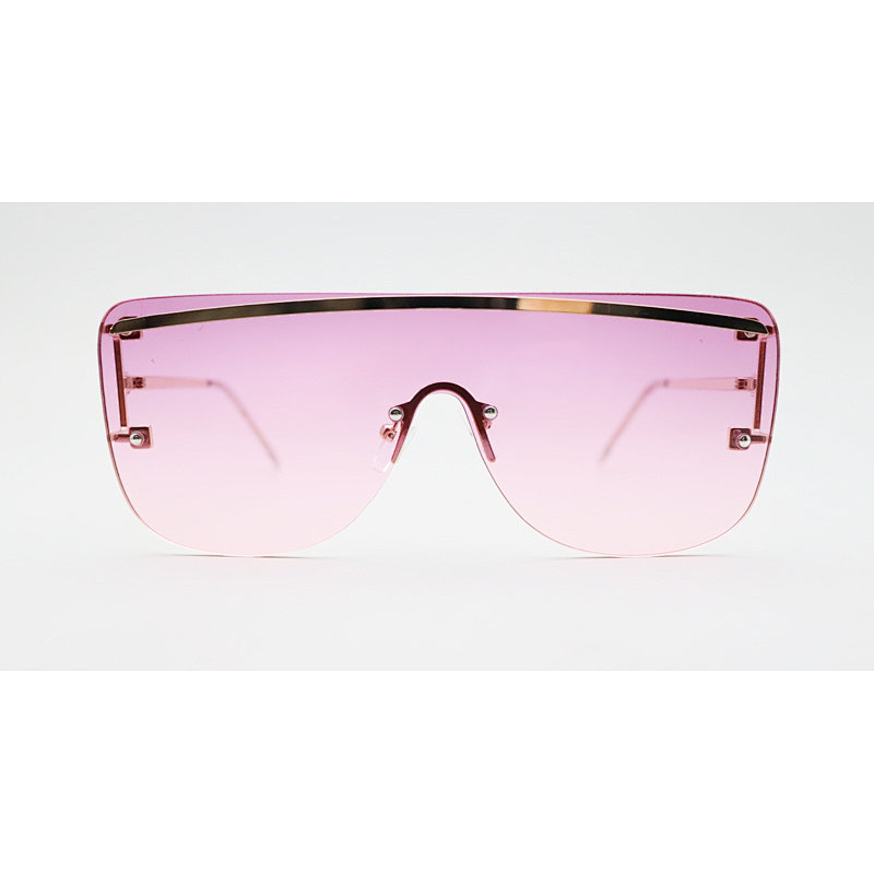 DTJH094 Shield flat top oversize fashion sunglasses