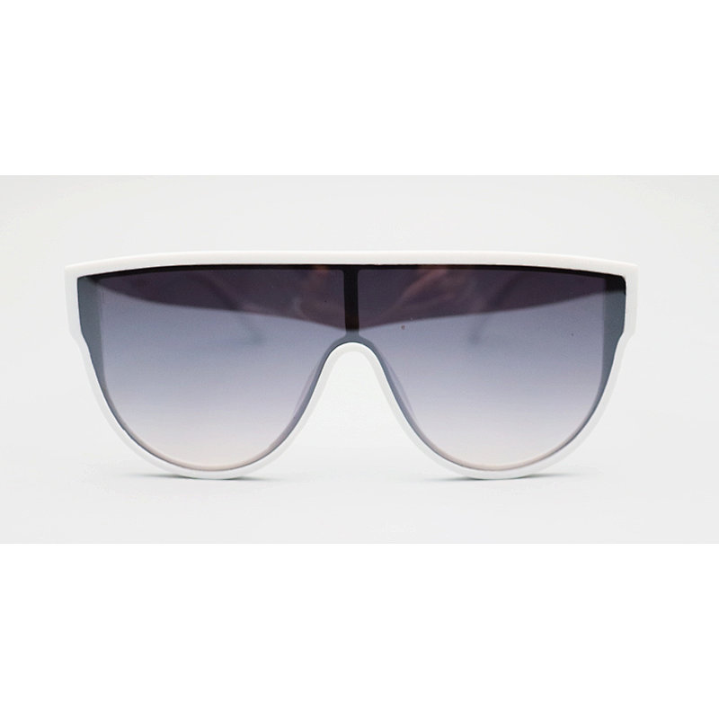 DTL6476 Flat top oversize shield round shape sunglasses