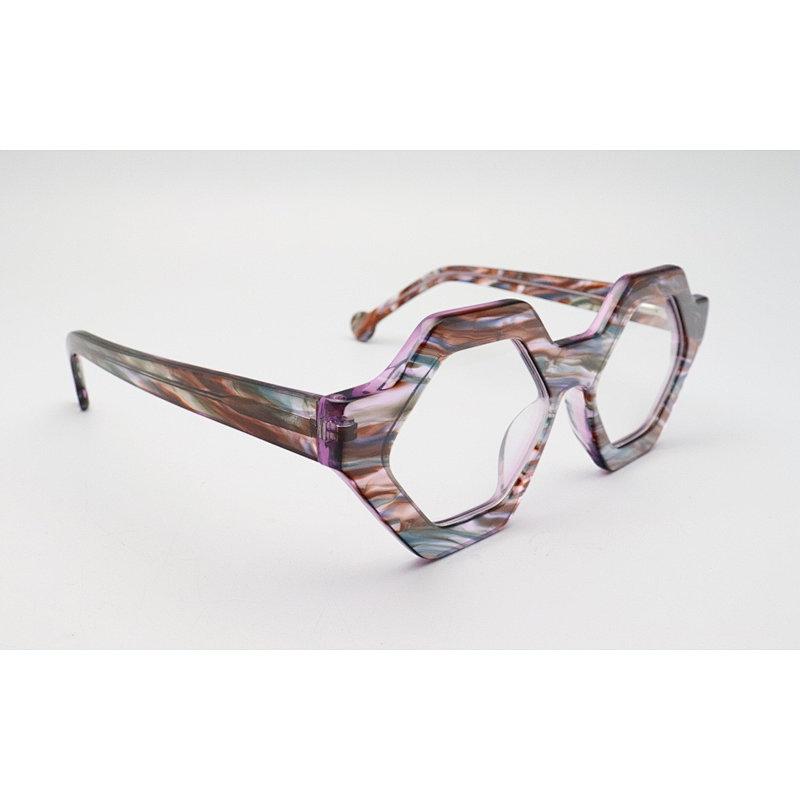DTYN042 GEO lamination fashion acetate optical frame glasses