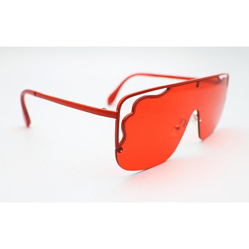 DTFJ2908 Flat top oversize shield fashion sunglasses