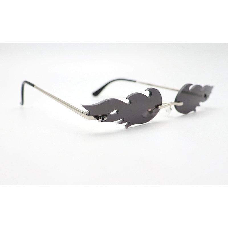 DTFJ2560 Small Rimless Fire Flame Shape fashion Sunglasses