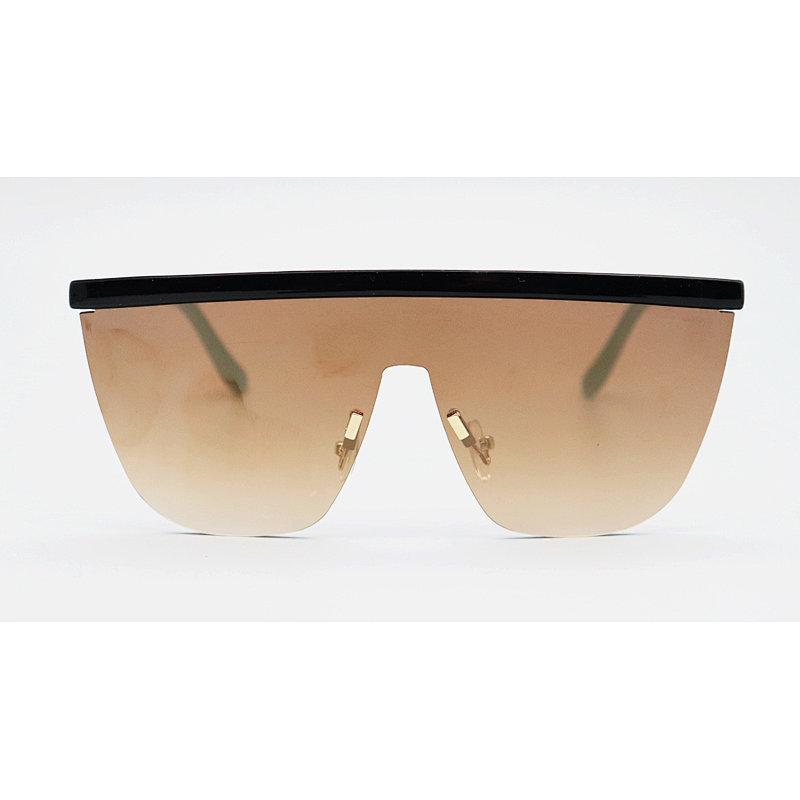 DTZ1749B Flat Top Shield Fashion Sunglasses