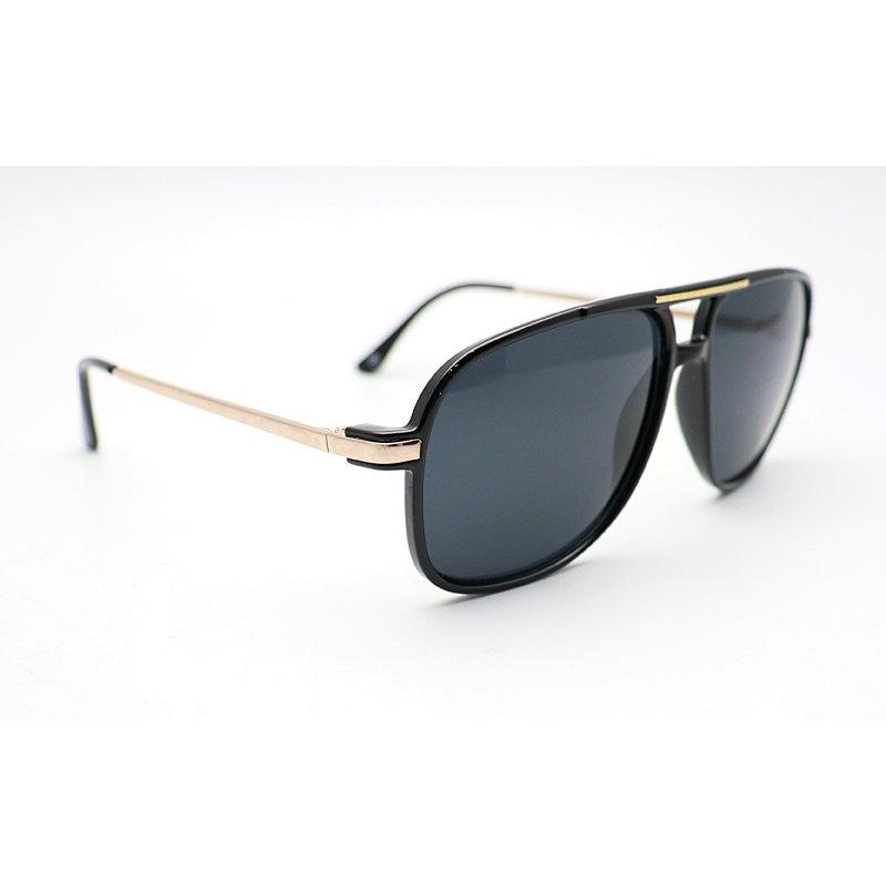 DTFJ2588 Flat top oversize shield double bridge sunglasses